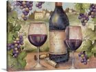 Wine and Grapes Canvas Wall Art Print, Wine Home Decor