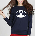 Womens Casual Shirts Tops Sweatshirts Bat Print Long Sleeve Pullover Slim Jumper