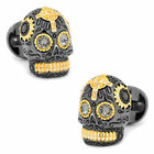 Ox and Bull Trading Co. 3D Day of the Dead Skull Cufflinks