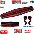 DAM GYM BACK PULL UP CHIN DIPPING DIP WORKOUT WEIGHT LIFTING BELT 5 INCH RED