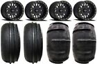 "Method 406 14"" Beadlock Black Wheels 28"" Sand Stripper Tires Polaris RZR 1000 XP"