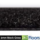 Artificial Grass, Quality Astro Turf, Cheap, Garden Green Lawn 6mm Black Grass