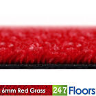 Artificial Grass, Quality Astro Turf, Cheap, Garden Green Lawn 6mm Red Grass