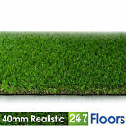 Artificial Grass, Quality Astro Turf, Cheap, Turf Natural Garden 40mm Realistic