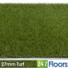 Artificial Grass, Quality Astro Turf, Cheap, Realistic Natural Garden 27mm Turf