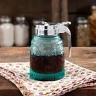 The Pioneer Woman Teal Syrup Pourer Dispenser - Embossed Pressed Glass
