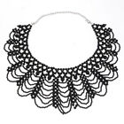 lady Bib White Black Pearl Pendant Chunky Chain Collar Statement Neck lace New