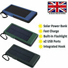 EXTERNAL SOLAR POWER BANK PORTABLE BATTERY PACK FAST CHARGE For LENOVO TAB 3 10
