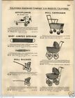 1932 PAPER AD Sky Lark Airplane Aeroplane Pedal Car Doll Carriage Buggy