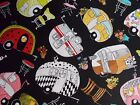 Loralie Vintage Trailer Fabric Tossed Black Quilting 100% Cotton BTHY or BTY