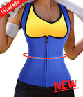 Waist Trainer Neoprene Body Hot Sweat Shaper Fat Burner Zipper Vest Bodysuit UB
