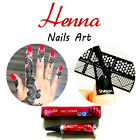 Mehndi Nail Henna Paste Cone Waterproof Temporary Nails Stains Tattoo