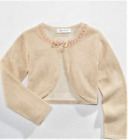 New Bonnie Jean Big Girls Gold Metallic Cardigan Shrug  Sizes 7 8 10 12 14 16