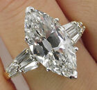 Women's Fashion Jewerlry 925 Silver Marquise Cut White Sapphire Anniversary Ring