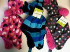 Jumping Beans Toddler Size 6-18 months Winter Hat w Matching Mittens & Sherpa