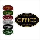 "Office Address Number Decorative 12"" x 7"" Aluminum Oval Wall or Door Sign"