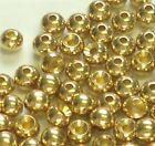 PREMIUM GOLD BRASS BEADS FOR FLY TYING - 8 SIZES TO PICK FROM - 25 COUNT