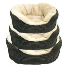 "Rosewood Pet 40 Winks Grey Jumbo Cord Plush 20"" 25"" 32"" Dog Bed"