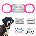 Personalized Dog Tags Pet ID Name Collar Stainless Steel Slide-on 3/4'' Engraved