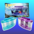 3 Chamber BETTA FISH TANK Aquarium with 2 Colour DAY/NIGHT LED - BLUE or PURPLE