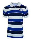 MENS Official CHELSEA FC Classic Stripe Polo Shirt S M XL Football