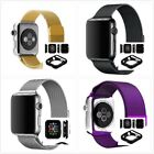 Milanese Loop Magnetic Band for Apple Watch iWatch 38/42mm Full Black Case x1