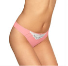 EX M&S Marks & Spencer Coral Lace Trim Low Rise Thong Knickers Pants 6 8 12