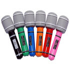 6X Blow up Inflatable Plastic Microphone Party Favor Kids Toy Gift FO