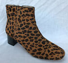 BNIB Clarks Ladies Chinaberry Bay Leopard Print Leather Heeled Boots