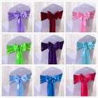10pcs Satin Chair Cover Sash Bows Wedding Banquet Party Decorations Untied