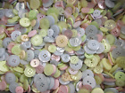 GREAT QUALITY ASSORTED MIXED PASTEL  COLOURS MIXED BUTTONS ASSORTED SIZES