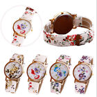 Fashion Flower Leather Wrist Watch Women Analog Quartz Wrist Watches