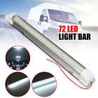 12v 72 Led Car Interior White Strip Lights Bar Lamp Van Caravan On Off Switch