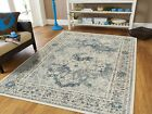 Kyпить Distressed Area Rugs 8x10 Cream Blue Rug 5x7 Living Room Rugs Runner 2x8 на еВаy.соm