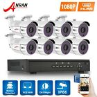 ANRAN 8CH/4CH HD 1080p POE NVR System 2.0MP Outdoor CCTV Surveillance Camera Kit