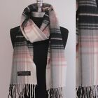 NEW Fashion 100% CASHMERE SCARF MADE IN SCOTLAND PLAID DESIGN SUPER SOFT UNISEX