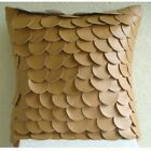 "Fish Scales Brown Pillow Cases, Faux Leather 16""x16"" Pillows Cover - Scales"