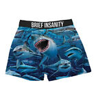 Brief Insanity Funny Novelty Boxer Shorts Soft Silky Underwear Mens Women Unisex <br/> Great fun gift for Men and Women