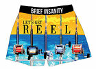 Brief Insanity Funny Novelty Boxer Shorts Soft Silky Underwear Mens Women Unisex