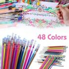 Gel Pen Refills Glitter 48 Colors Coloring Drawing  Craft Markers Stationery RT
