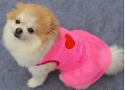 "Pet princess girl DOG dress_red and pink hearts_""I Love My Mommy"" sz: XS,S"