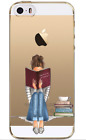 NEW iPhone Case WOMEN-TPU SOFT Cover: LADY STUDENT OR READER (6, 6S, 6+,7,7+)
