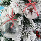 5PCS Clear Plastic Craft Sphere Baubles For Christmas Decoration Wedding Favours