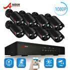 ANRAN 1080P HD Home CCTV Security Camera System 2MP 4CH/8CH POE NVR Remote View