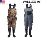 Fly Fishing Stocking Foot Wader Affordable Waterproof Chest +Shoe L-XXXL