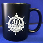 40th Anniversary Sea Shepherd Mat Black Mug Earthenware