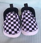 Vans Slip On Checkers Black White Baby Crib Infant Shoes Size 1 - 4 New Born