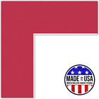 ArtToFrames Custom Red Rouge Picture Photo Frame Mat Matting Board