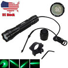 5000Lm XML Q5 LED Green Night Hunting Flashlight For Rifle Remote Scope Mount