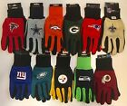 NFL SPORT UTILITY WORK PLAY FOOTBALL GLOVES NO SLIP GRIP ADULT PICK YOUR TEAM on eBay